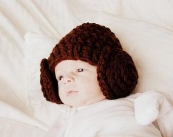 Crochet Princess Leia beanie 56ccca77e87