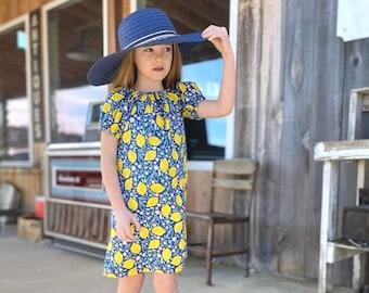 Peasant Play Dress PDF Sewing Pattern | Girls Dress | Raglan Sleeve Dress