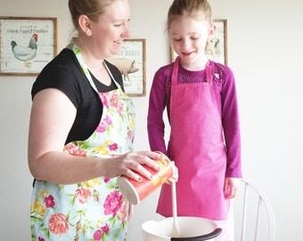Mom & Me Kitchen Apron PDF Sewing Pattern | Kids Apron | Adult Apron | Cooking Apron| Child Apron Pattern