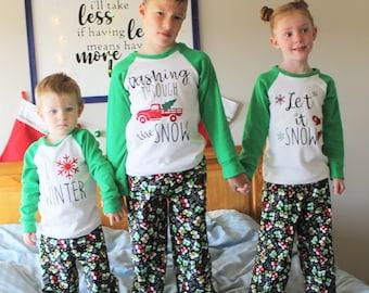 Happy Holiday Pajama Top and Pants | PDF Sewing Pattern