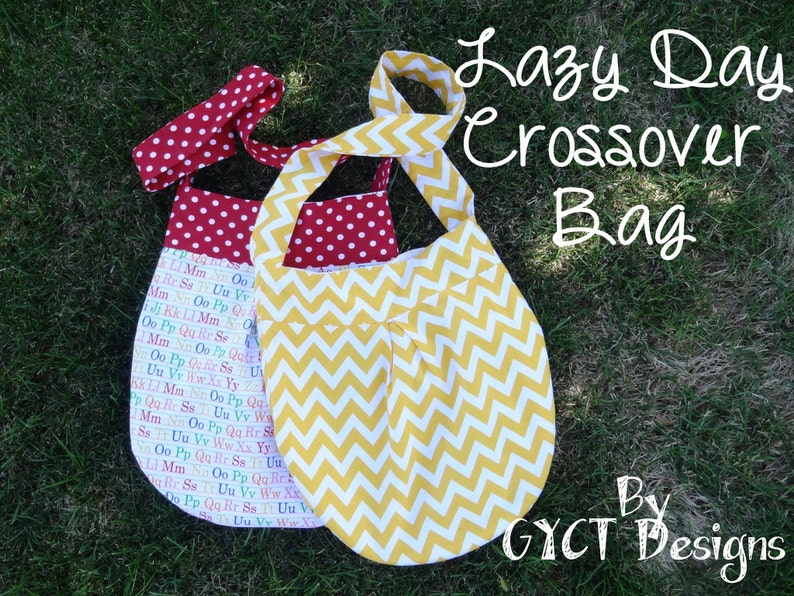 Lazy Day Crossover Bag PDF Sewing Pattern:  purse pattern  image 0