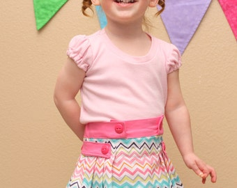 Tally Pleated Skirt and Shorts Pattern:  Sizes 6 month to 12 years