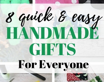 8 Easy Handmade Gift Ideas for Everyone eBook | Sewing Patterns | Sewing Gifts | Christmas Sew