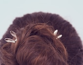 Rabbit in my head hairpin (sterling silver)