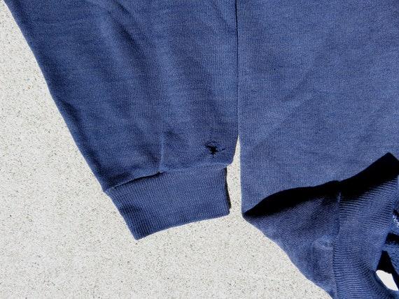 L 70s Northwestern College Hoodie Navy Blue Hoode… - image 5