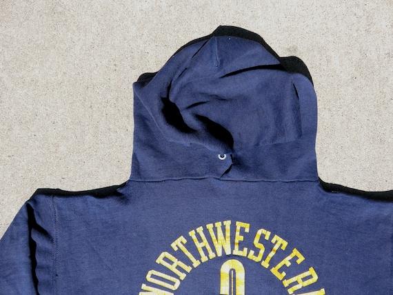 L 70s Northwestern College Hoodie Navy Blue Hoode… - image 9