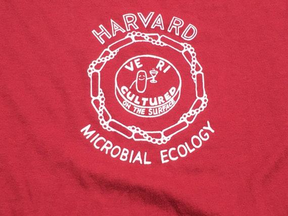 80s Maroon Harvard Microbial Ecology T-Shirt, Med… - image 2