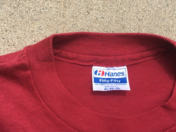 80s Maroon Harvard Microbial Ecology T-Shirt, Med… - image 5