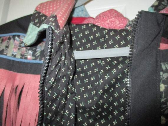 SALE Vintage patchwork style quilted jacket, fall… - image 7