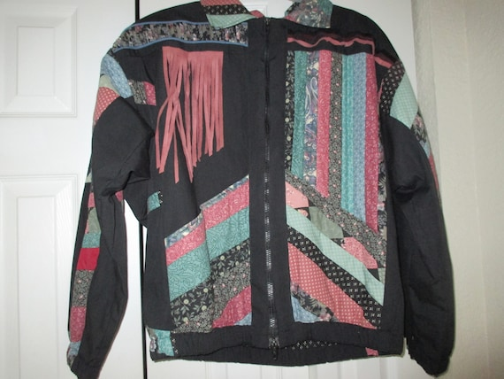 SALE Vintage patchwork style quilted jacket, fall… - image 1