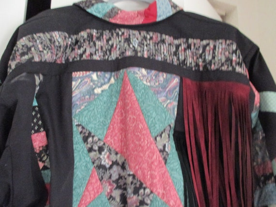 SALE Vintage patchwork style quilted jacket, fall… - image 5