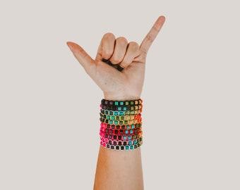 Macramé Beaded Bracelet
