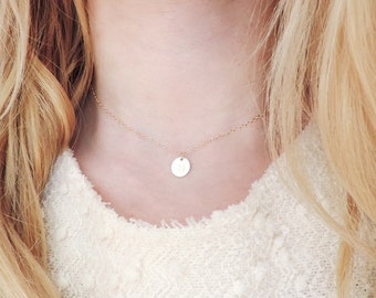 Initial Choker Necklace, Gold Filled Initial Necklace, Gold Choker Necklace, Personalized Necklace, Dainty Necklace, Bridesmaid Necklace