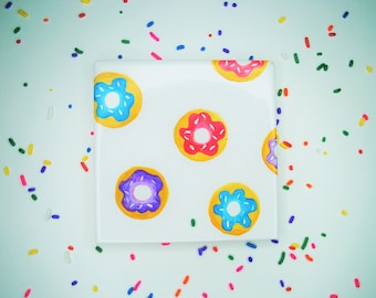 Donuts Drink Coaster | Sugar and Sprinkles | Handpainted | Multicolored | Makes a Great Gift