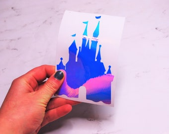 Castle Silhouette Decal | The Princess Castle Decal | Multiple Colors | Perfect for your Car, Laptop, Snowboard, and More!