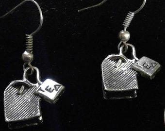Tea Earrings - Silver Tone