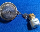 Tea Infuser - Individual Cup - Round Shaped w/bottle of snowflakes