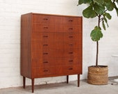 Arne Vodder Danish Highboy Teak Dresser