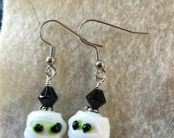 Halloween Mummy Earrings