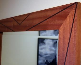 Geometric Wall Mirror Hand Crafted wood frame, Wall Mirror large, Wall mirrors decorative, Framed Wall Mirror,