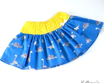 ON SALE - Girls' Twirly Skirt - Dinosaurs