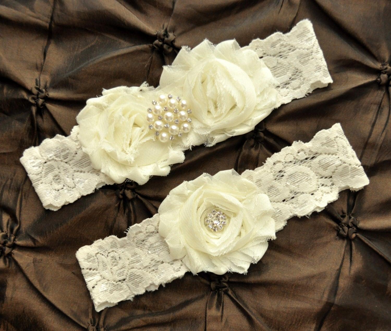 What Is Wedding Garter: Ivory Wedding Garter Set Bridal Garter Set Ivory Lace