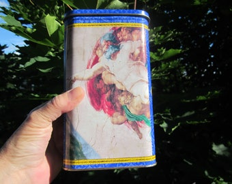 VATICAN Collection Michelangelo Sistine chapel, Creation of Adam 1512 limited Edition, Rectangular TIN