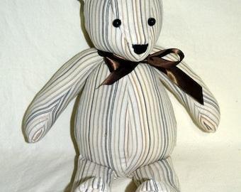 Remembrance Bear, Keepsake Bear, Memory Bear, Memorial Bear, Stuffed Animal, Teddy Bear