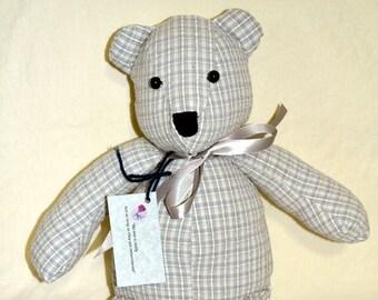 1 - Remembrance Bear, Keepsake Bear, Memory Bear, Memorial Bear, Stuffed Animal, Teddy Bear