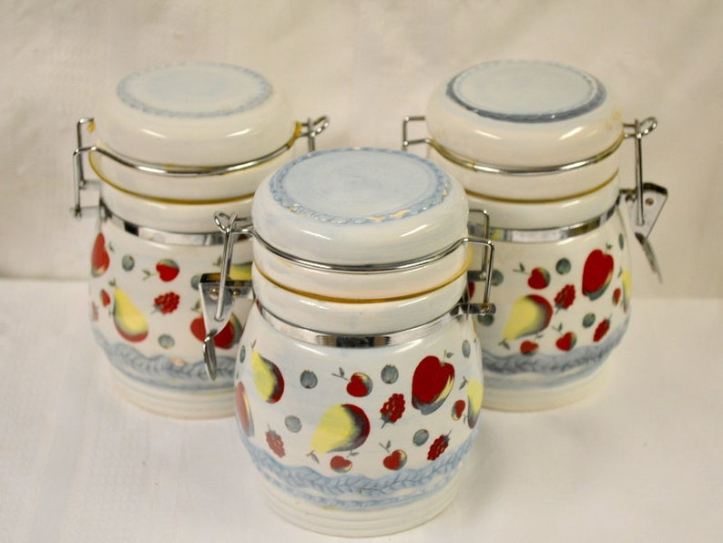 Antiques Food Storage Kitchen Canisters Vintage Canister Set Collectables Vintage Canisters