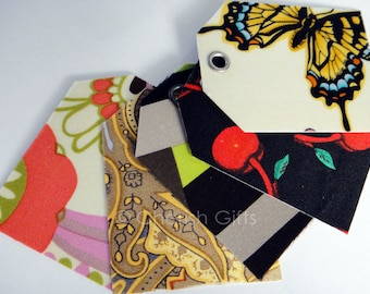 Fabric Gift Tags x 5