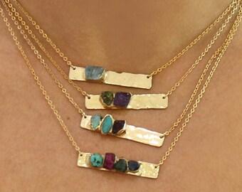 Personalized Jewelry, Raw Stone, Raw Birthstone Necklace, Personalized Gift For Mom,Personalized Birthstone Necklace, Personalized Necklace.