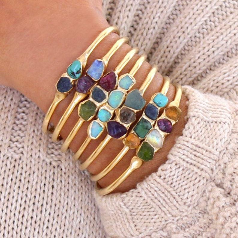 Personalized Bracelet Gemstone Bracelet Birthstone Bracelet image 1