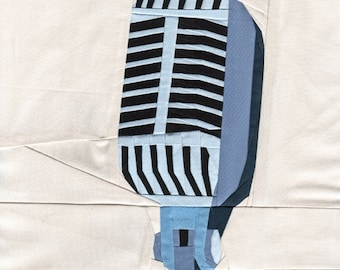 Vintage Microphone - Paper Piecing