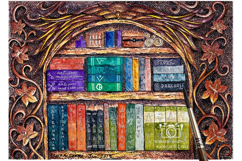 Bookworm Gifts Literary Gifts Medieval Decor Library Decor image 0