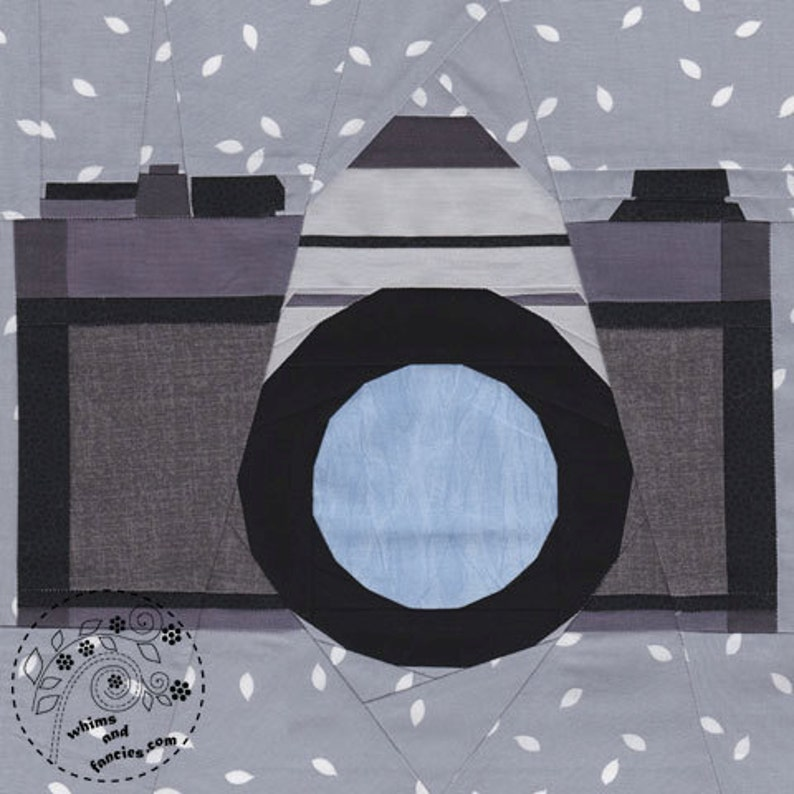 Fields On Camera  Paper Piecing camera quilt pattern camera image 0