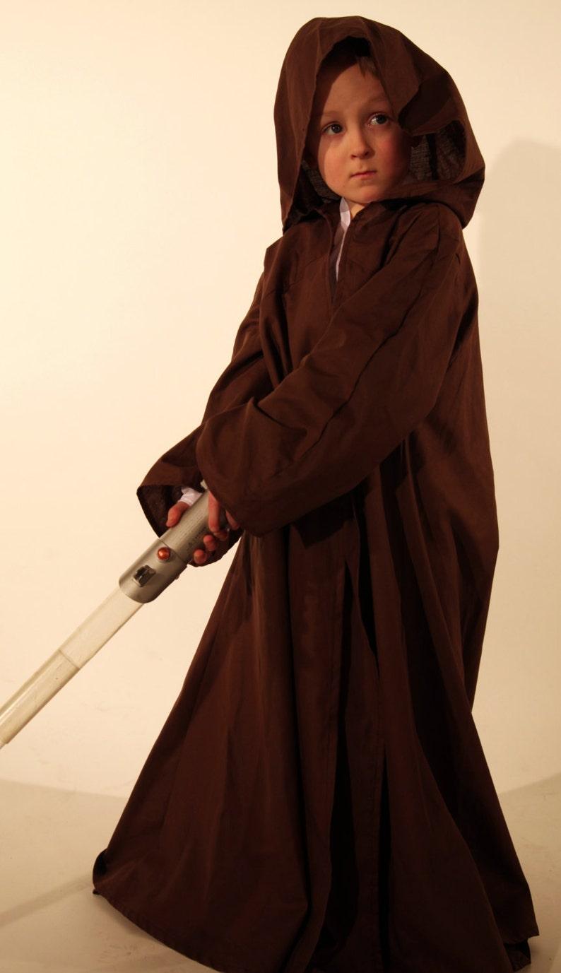 handmade Childrens Jedi Robe worldwide shipping Star Wars Fancy Dress costumes and cosplay custom colours