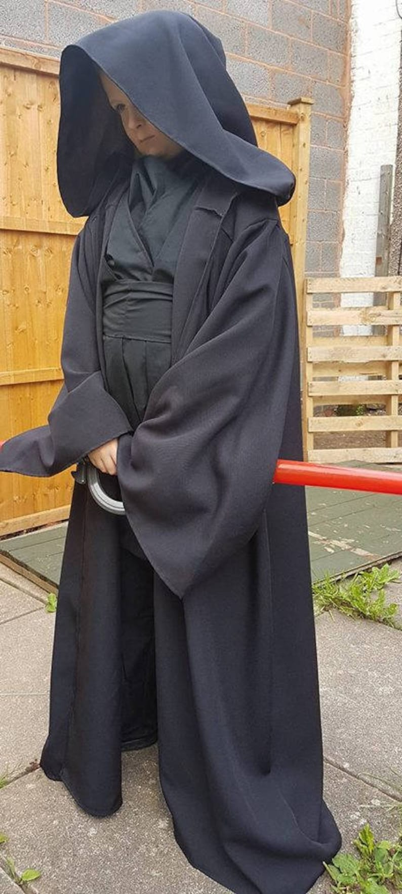 worldwide shipping Star wars costumes and cosplay Boys Sith Lord inspired costume Handmade in all sizes Jedi robes