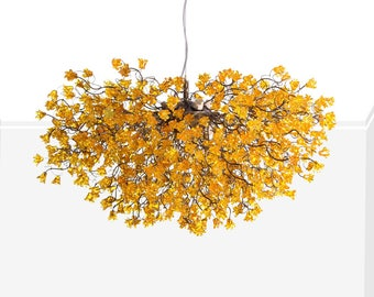 Chandelier etsy chandelier lighting yellow flowers chandeliers hanging lamp flowers lights for dining room statement lighting aloadofball Gallery