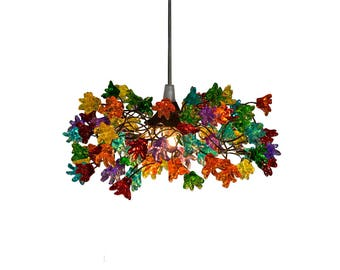 Bubbles light lighting ceiling pendant light multicolored etsy ceiling light fixtures with multicolored jumping flowers for hall bathroom kitchen island pendant lighting aloadofball Choice Image