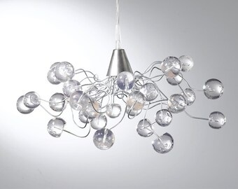 Ceiling Light With Clear Transparent Bubbles, Krystal Chandelier For Living  Room, For Girls Or Boy Bedroom .