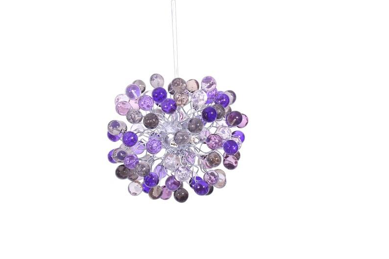 Plafoniere Viola : Luce plafoniera il colore di tonalità viola bolle per camera etsy