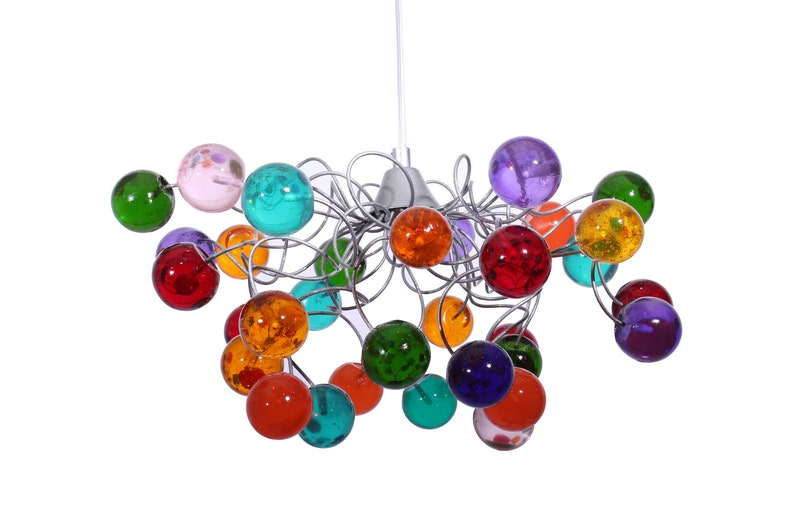 Illuminazione moderna multicolore bolle plafoniera con filo etsy