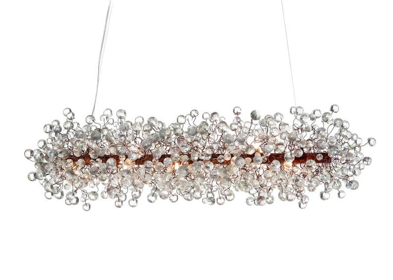 Plafoniere Per Sala Da Pranzo : Lampadario per sala da pranzo con trasparente clear bolle etsy