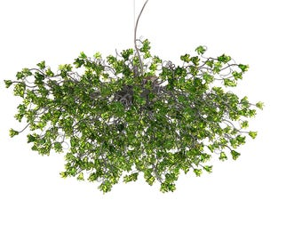Dining Room Lighting, Hanging Chandeliers, Modern Chandelier with Green jumping flowers, for Dining Room , living room, or master bedroom.
