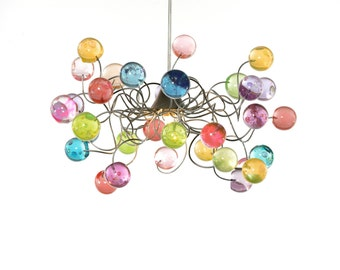 Lighting - Ceiling light Pastel color bubbles for girls bedroom, living room or bathroom.
