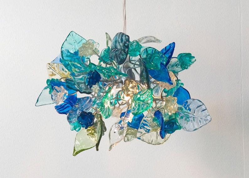 Plafoniere Per Casa Al Mare : Illuminazione a sospensione mare colore fiori e foglie etsy