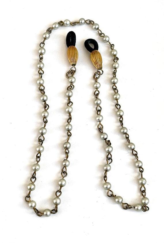 Light Tan Braided Eyeglass Lanyard Vintage Inspired Antiqued Brass Eyeglass Holder Leather Cord Lanyard