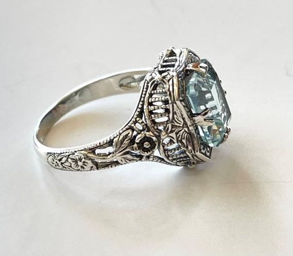 Black Onyx Wedding Bridal Ring Black Stone Ring. Solitaire Ring Vintage Art Deco Ring Moissanite Ring Filigree Ring 3.50 ct