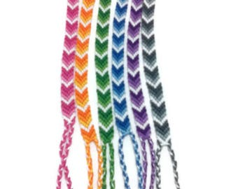 chevron bracelet, friendship bracelet, macrame bracelet, friendship gift, personalized bracelet, boho bracelet, string bracelet